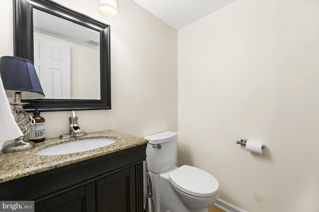 Remodeled half bath off of the family room - 12 DUDLEY CT, STERLING