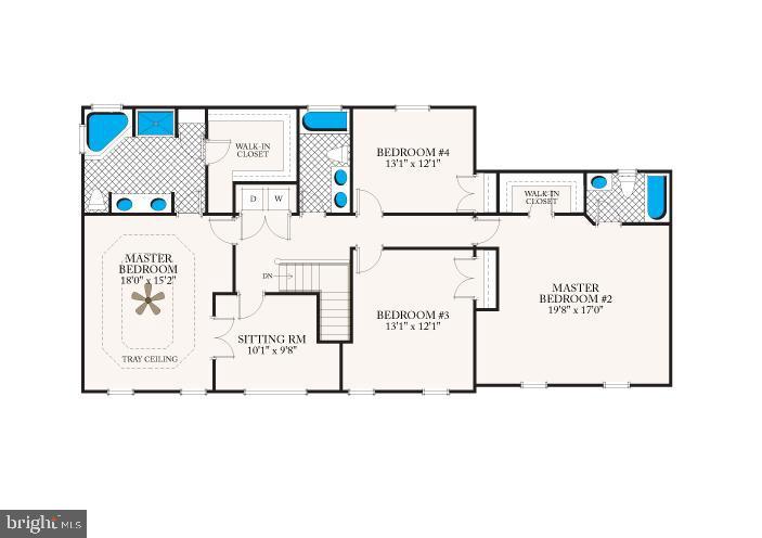 Upper level floor plan - 7304 BACKLICK RD, SPRINGFIELD