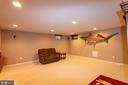 recreation area in finished basement - 1302 WANETA CT, ODENTON