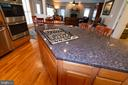 cooktop on center island - 1302 WANETA CT, ODENTON