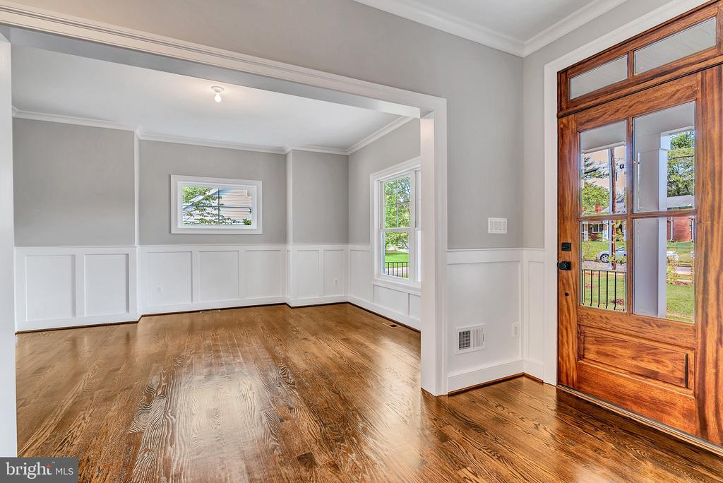 Entry Foyer into Formal Dining (Similar sold Home) - 1849 WARE RD, FALLS CHURCH