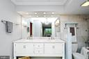 Main bath offers double sinks, rare in Montebello - 5902 MOUNT EAGLE DR #609, ALEXANDRIA