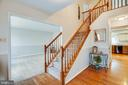 Two-story foyer w/chair railing & hardwoods - 5 GREYSTONE PL, STAFFORD