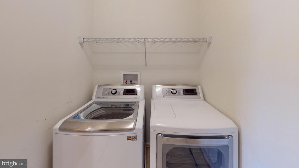Laundry room located on upper level in hallway - 1410 MACFREE CT, ODENTON