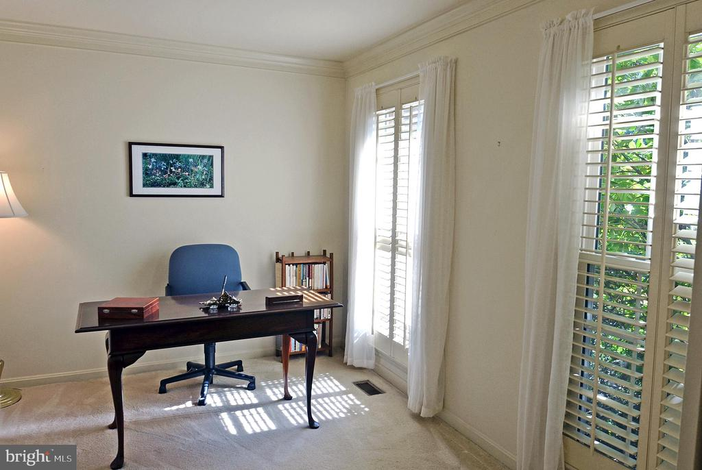 Study with Crown Moulding - 14504 S HILLS CT, CENTREVILLE