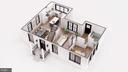 Open Concept Main Floor - Bedroom/Study + Bath - 3729 N PERSHING DR, ARLINGTON