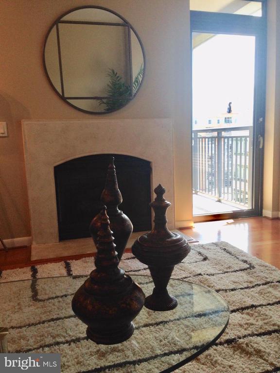 Fireplace - 1021 N GARFIELD ST #1002, ARLINGTON