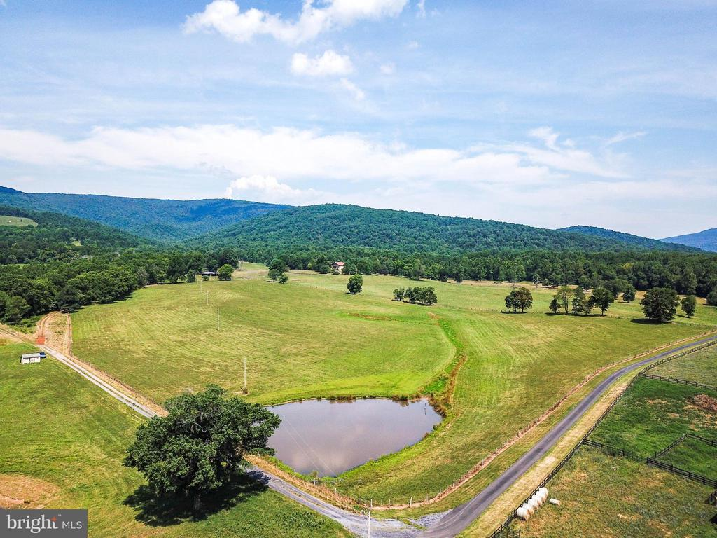 Gentle rolling fields surround the house - 69 TWIN POST LN, HUNTLY
