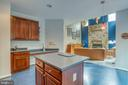 Kitchen with center island - 43435 MINK MEADOWS ST, CHANTILLY