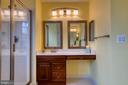 Owner's suite bath with double vanity - 43435 MINK MEADOWS ST, CHANTILLY