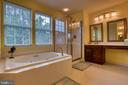 Owner's bath w/ soaking tub & separate shower - 43435 MINK MEADOWS ST, CHANTILLY
