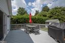 Spacious deck - 809 MORTIMER AVE, FREDERICKSBURG