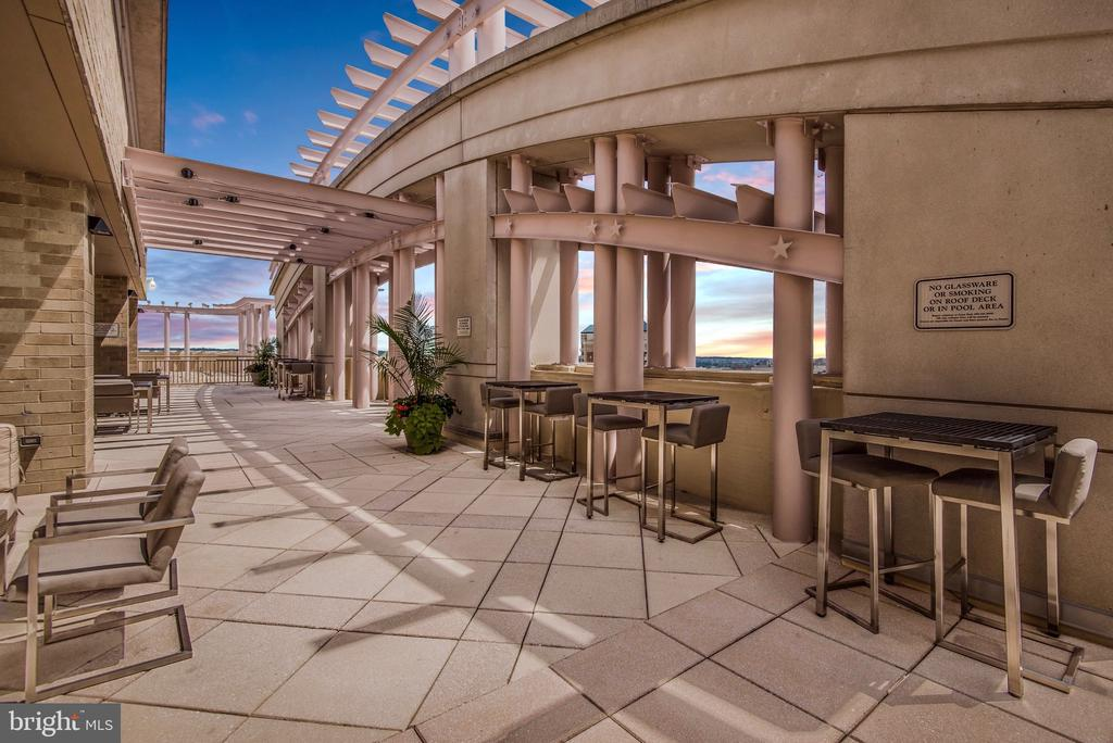 Rooftop terrace with 360 degree panoramic views - 888 N QUINCY ST #1506, ARLINGTON