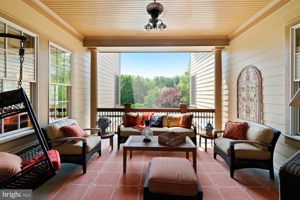 main floor screened terrace off grand of foyer - 11215 KINSALE CT, ELLICOTT CITY