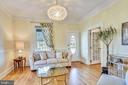 LR  with elegant molding, pretty chandelier - 840 ELDEN ST, HERNDON