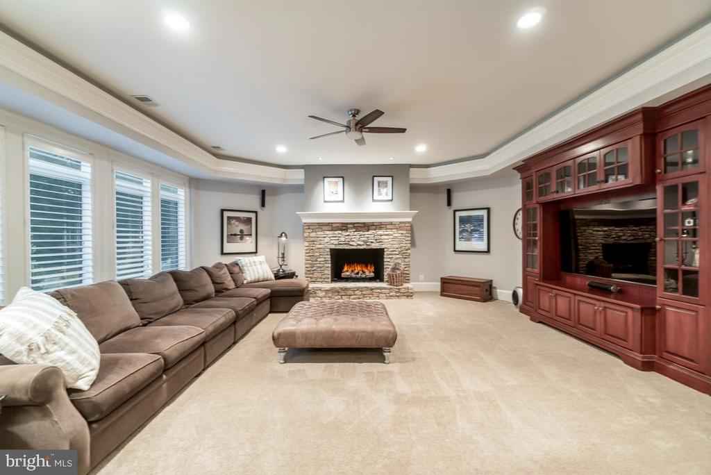Basement family room - 15330 RIDING CLUB DR, HAYMARKET