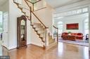 Traditional staircase with landing - 3720 SPICEWOOD DR, ANNANDALE