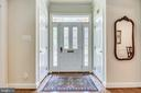 Foyer with guest coat closets on both  sides - 3720 SPICEWOOD DR, ANNANDALE