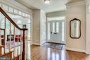 Foyer with beautiful  Mosaic hardwood floors - 3720 SPICEWOOD DR, ANNANDALE