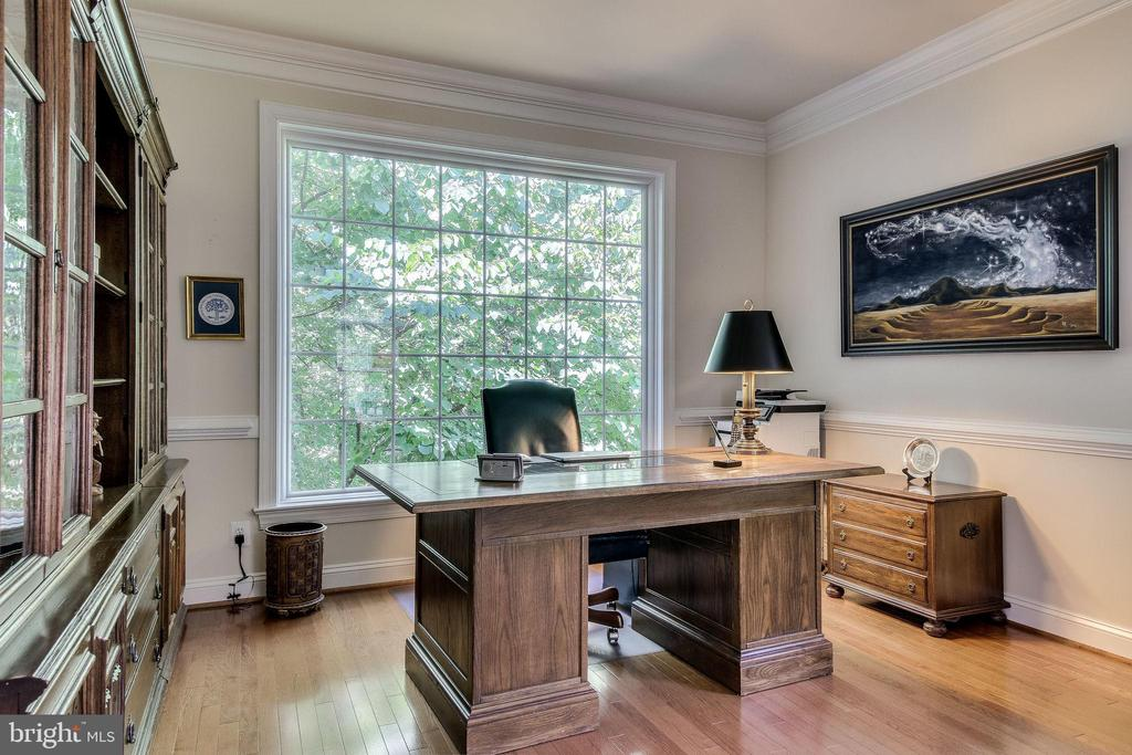Peaceful/private view of the wooded 1/2 acre lot - 3720 SPICEWOOD DR, ANNANDALE