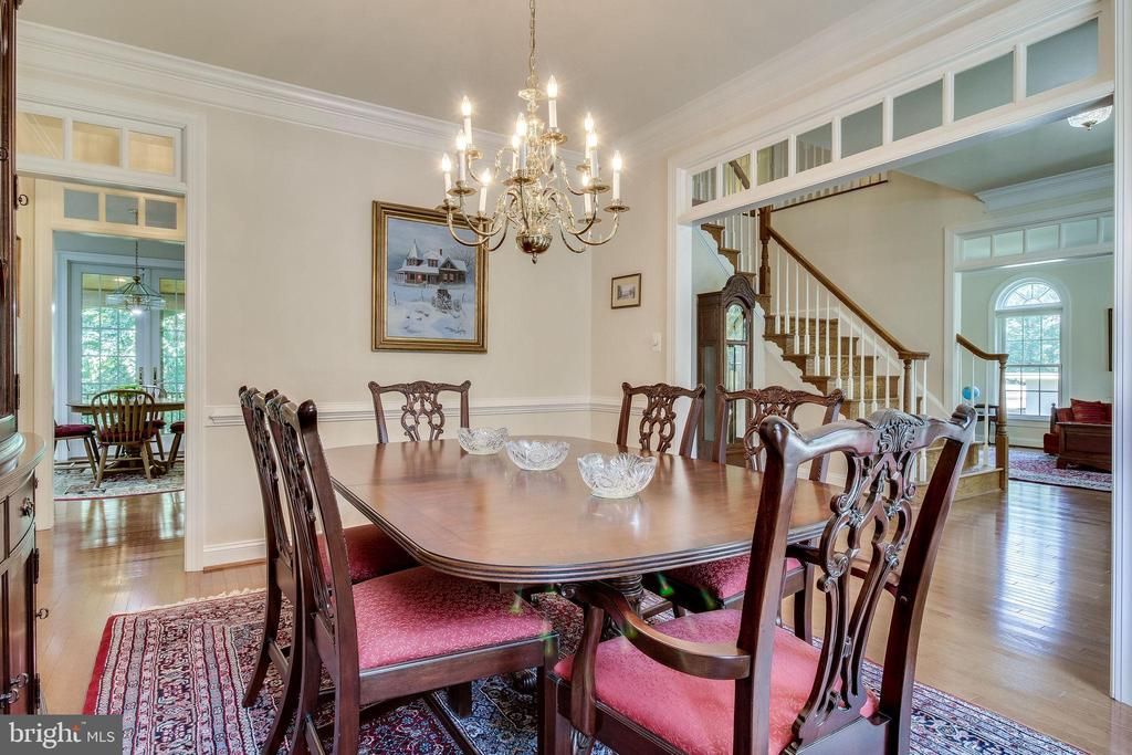 Dining Room with fine architectural details - 3720 SPICEWOOD DR, ANNANDALE