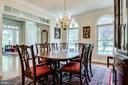 Elegant Dining Room - 3720 SPICEWOOD DR, ANNANDALE