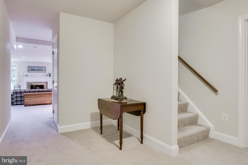 Storage & Utility Room at bottom of stairs. - 3720 SPICEWOOD DR, ANNANDALE