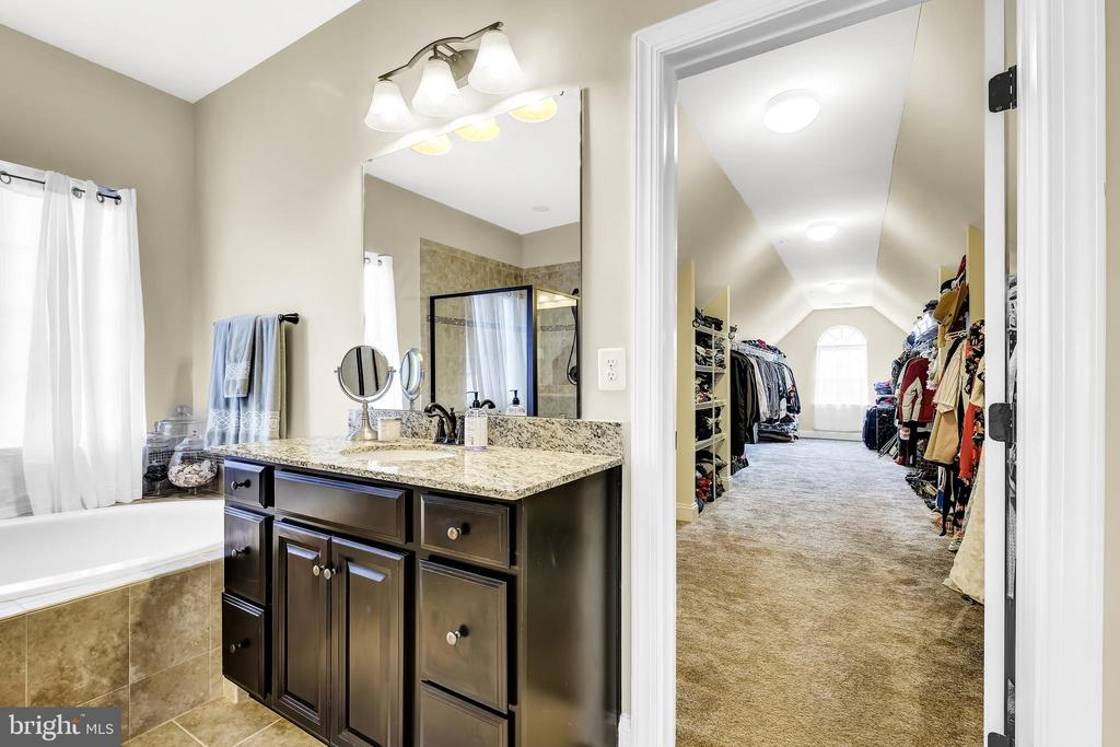 Master Bath and Walk-In Closet - 18348 CHELSEA KNOLLS DR, MOUNT AIRY
