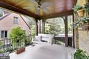 Covered side Porch with ceiling fan - 9510 THORNHILL RD, SILVER SPRING