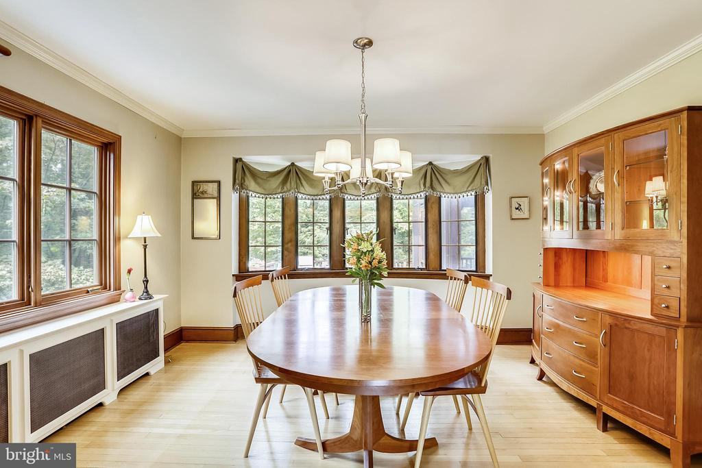 Formal Dining Room, natural stained woodwork - 9510 THORNHILL RD, SILVER SPRING