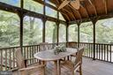 Screened/ Porch  with ipe flooring - 9510 THORNHILL RD, SILVER SPRING