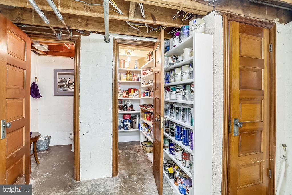LL Pantry with shelving & pegboard - 9510 THORNHILL RD, SILVER SPRING