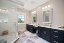 Custom Double Vanity with Makeup/Desk Space - 5631 SOUTHAMPTON DR, SPRINGFIELD