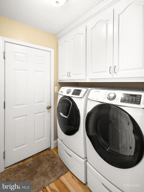 Main level laundry room with built in cabinets - 62 PLEASANT ACRES DR, THURMONT