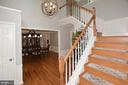 Two Story foyer with hard wood floors & stairs - 20418 ROSEMALLOW CT, STERLING