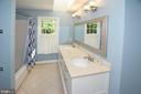 Updated Guest Bath with dual sinks - 20418 ROSEMALLOW CT, STERLING