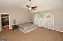Master Bedroom  with vaulted ceilings - 20418 ROSEMALLOW CT, STERLING