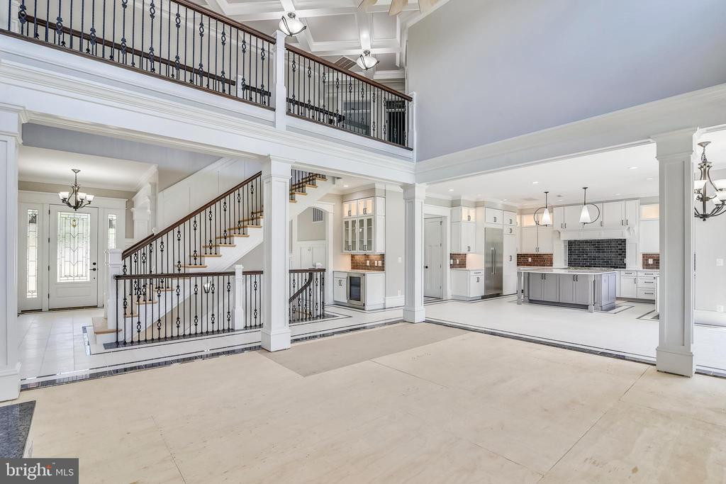 Open stairway where you can see all three floors - 14612 BRISTOW RD, MANASSAS
