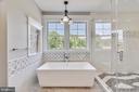 Soaking tub in second floor master - 14612 BRISTOW RD, MANASSAS