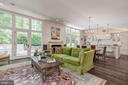 Great Room with views of the patio - 3629 ALBEMARLE ST NW, WASHINGTON