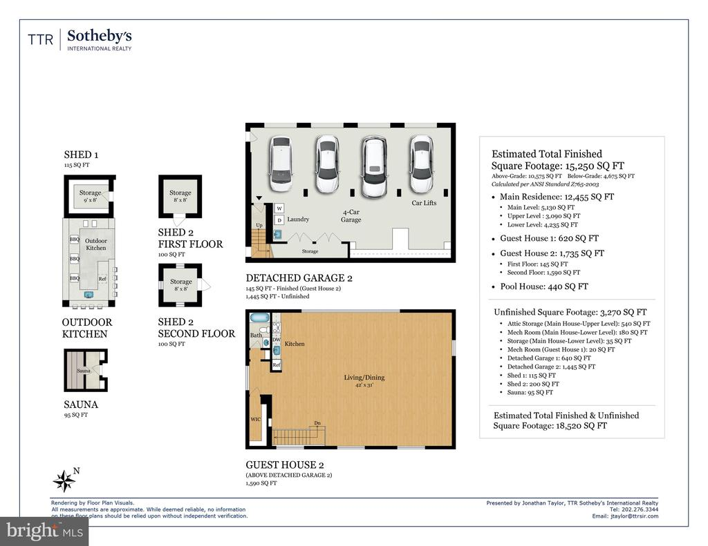 Floor Plan - Guest House/Garage - 8548-A GEORGETOWN PIKE, MCLEAN