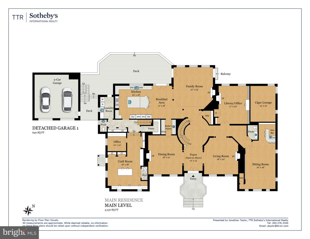 Floor Plan - Main Level - 8548-A GEORGETOWN PIKE, MCLEAN