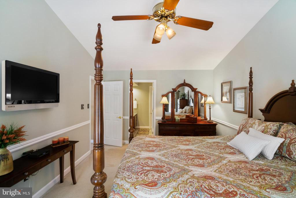 Ceiling fan with light - 6411 SPRINGHOUSE CIR, CLIFTON
