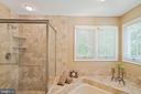 Spa like luxury owner's bath - 6411 SPRINGHOUSE CIR, CLIFTON