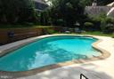 Backyard inground  pool.  Currently closed. - 9407 BRUCE DR, SILVER SPRING