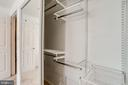 Closet system with drawers and shelves - 128 N GARFIELD RD, STERLING