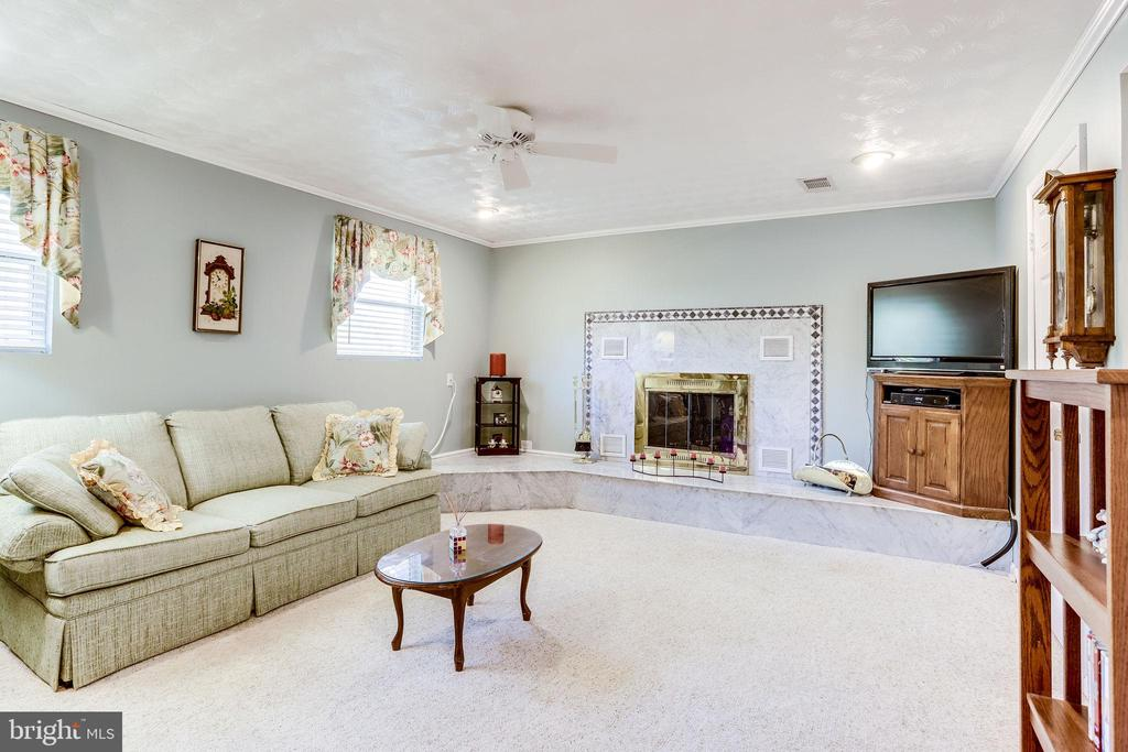 Finished lower level rec room with lots of light - 128 N GARFIELD RD, STERLING
