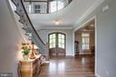 Foyer with Wide Plank Hickory Floors - 41820 RESERVOIR RD, LEESBURG