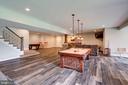 Rec Room w/Engineered Luxury Plank Floors - 41820 RESERVOIR RD, LEESBURG