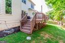 Deck Accessed From Kitchen - 26048 IVERSON DR, CHANTILLY